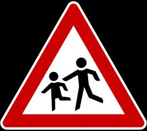 Verkehrsschild Achtung Kinder